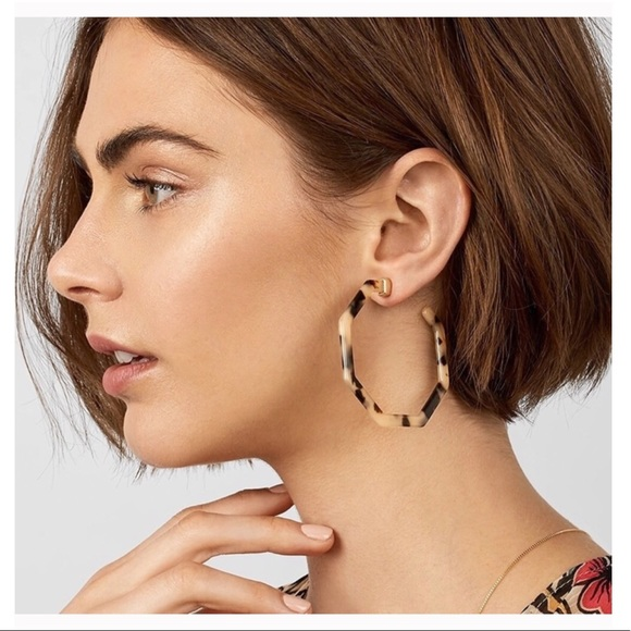 Tortoise hexagonal style earrings